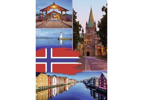 Trondheim Collage - 1000 stukjes