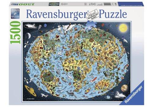 Bontgekleurde aarde - 1500 stukjes