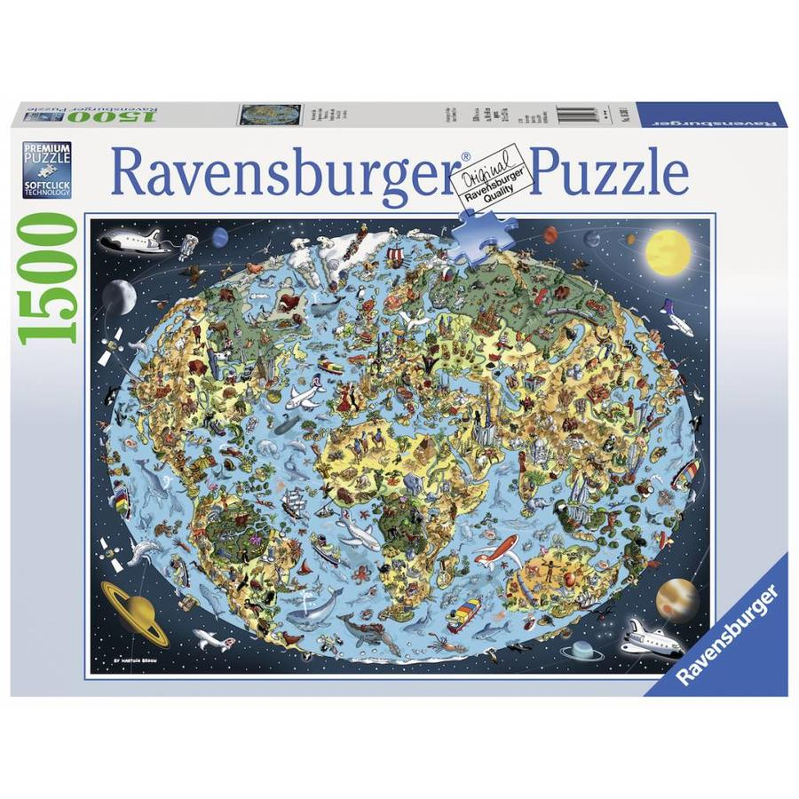Colourful earth - puzzle of 1500 pieces-1