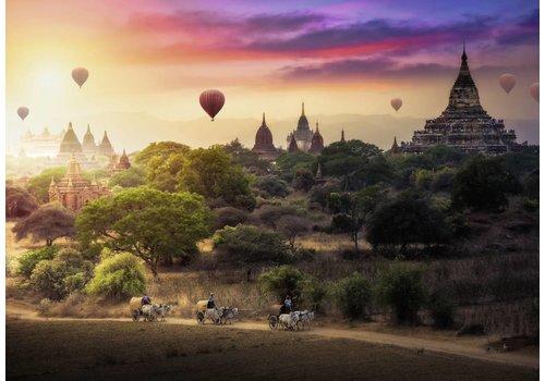 Heteluchtballon boven Myanmar - 1000 stukjes
