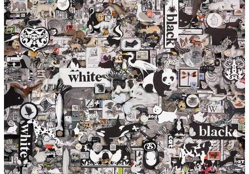 Zwart/wit dieren - 1000 stukjes