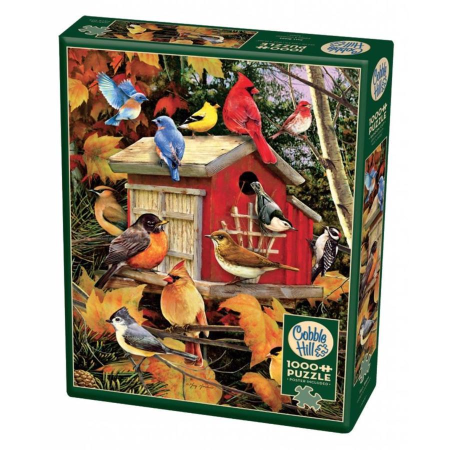 Vogelhuisje in de herfst - puzzel van 1000 stukjes-2