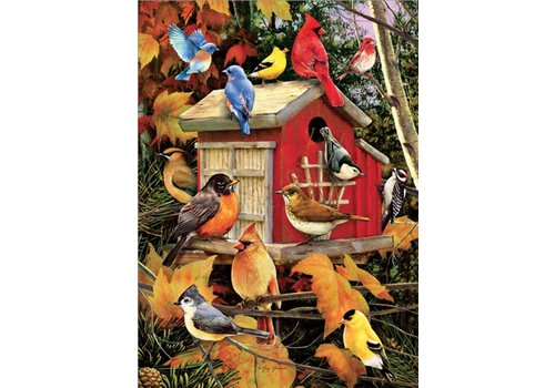 Fall Birdhouse - 1000 pieces