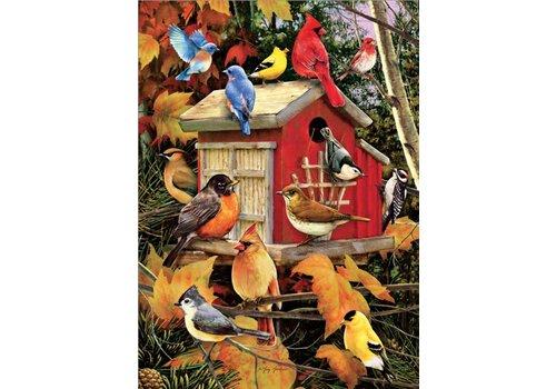 Vogelhuisje in de herfst - 1000 stukjes