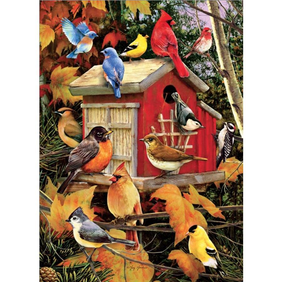 Maison des oiseaux à l'automne - puzzle de 1000 pièces-1
