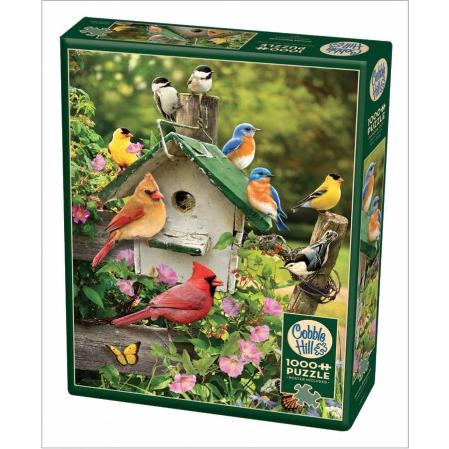 Vogelhuisje in de zomer - puzzel van 1000 stukjes-2