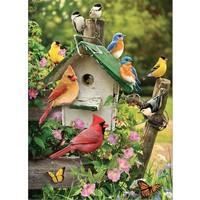 thumb-Vogelhuisje in de zomer - puzzel van 1000 stukjes-1