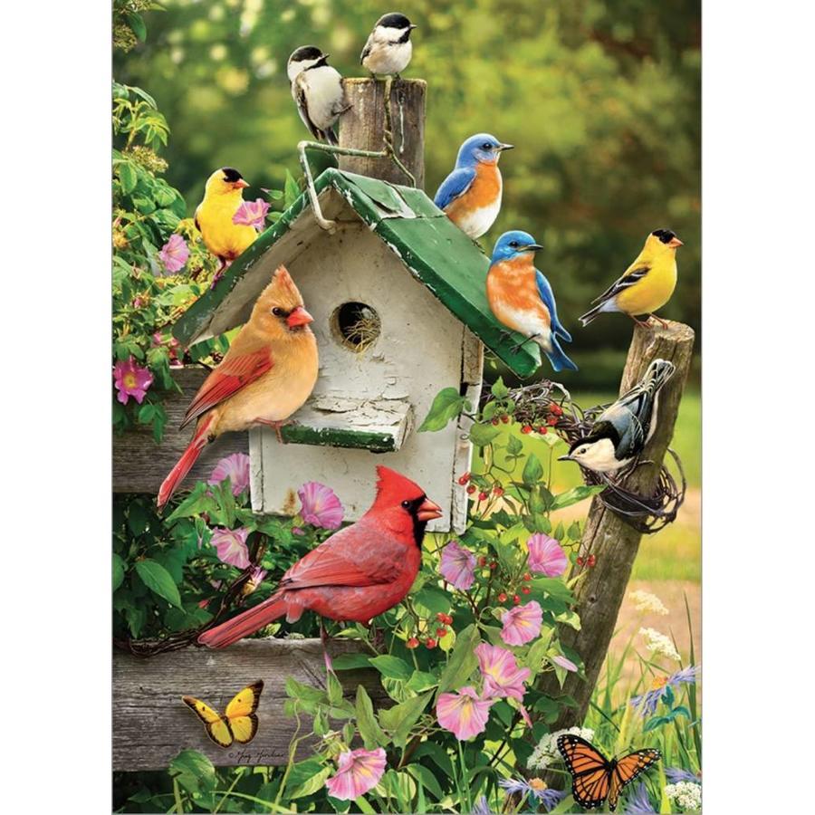 Vogelhuisje in de zomer - puzzel van 1000 stukjes-1