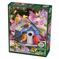 thumb-Vogelhuisje in de lente - puzzel van 1000 stukjes-2