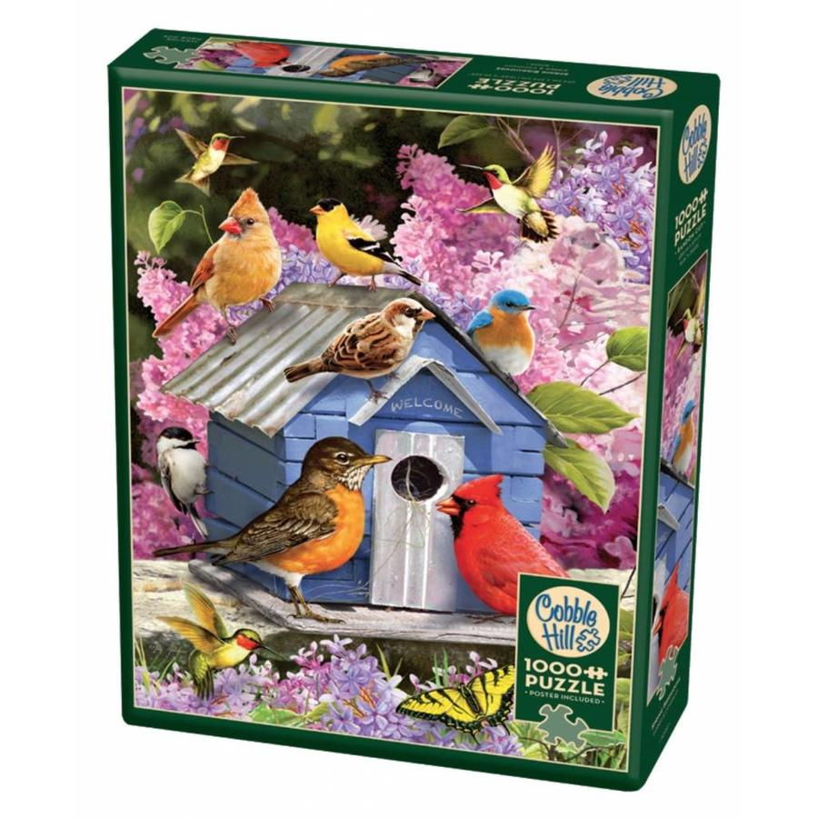 Vogelhuisje in de lente - puzzel van 1000 stukjes-2