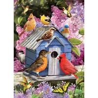 thumb-Vogelhuisje in de lente - puzzel van 1000 stukjes-1