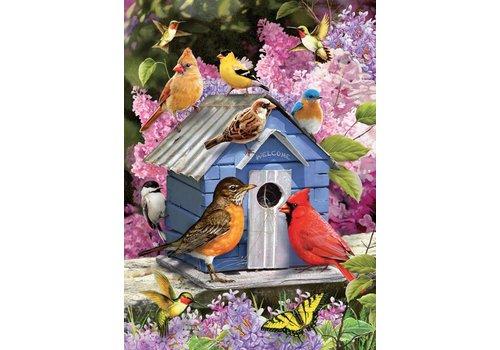Vogelhuisje in de lente - 1000 stukjes