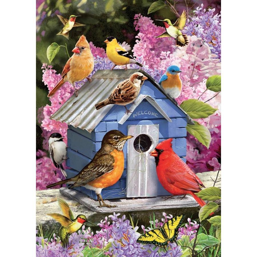 Vogelhuisje in de lente - puzzel van 1000 stukjes-1