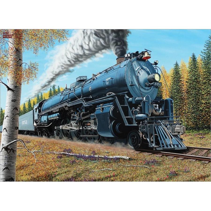 De trein Santa Fé 3751 - puzzel van 1000 stukjes-1