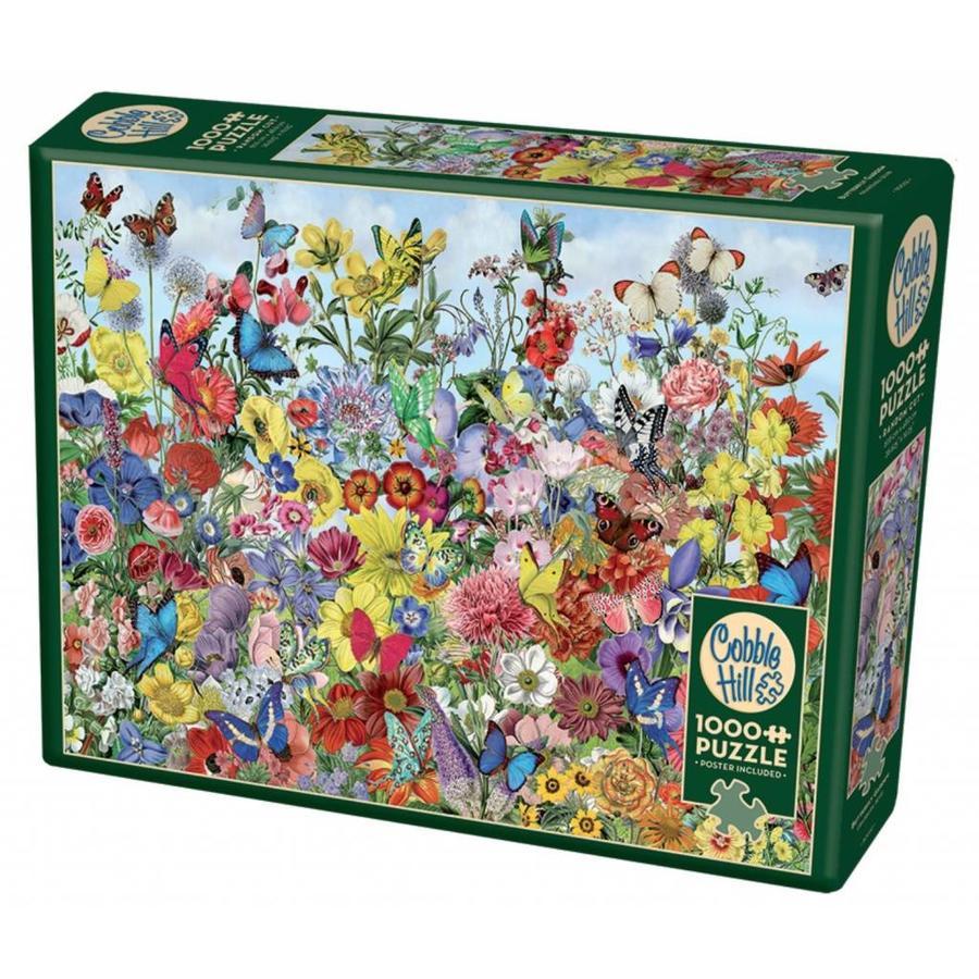 Jardin des papillons - puzzle de 1000 pièces-2