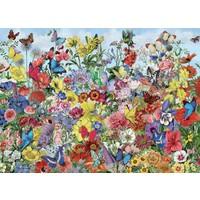 thumb-Jardin des papillons - puzzle de 1000 pièces-1