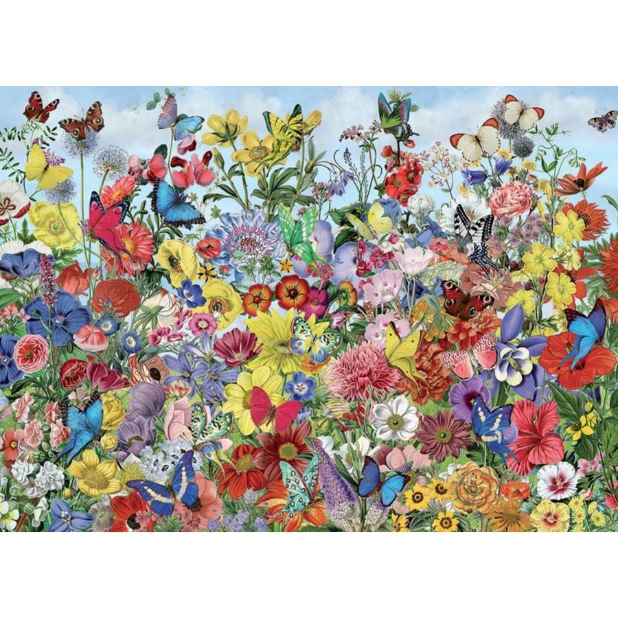 Jardin des papillons - puzzle de 1000 pièces-1