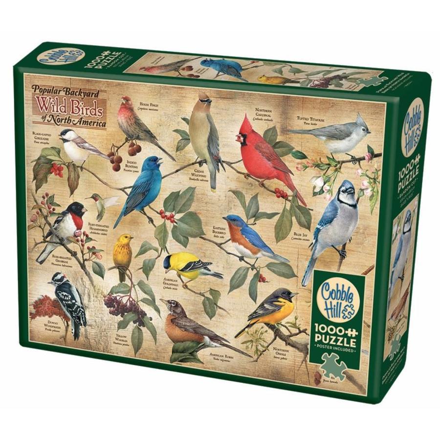 Vogels in de achtertuin - puzzel van 1000 stukjes-2