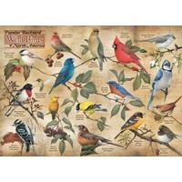 thumb-Vogels in de achtertuin - puzzel van 1000 stukjes-1