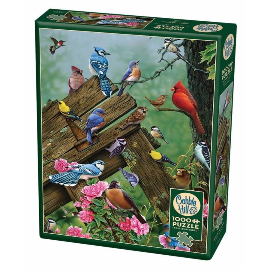 Vogels uit het bos - puzzel van 1000 stukjes-2