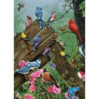 thumb-Vogels uit het bos - puzzel van 1000 stukjes-1