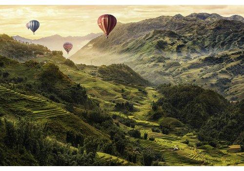 Rijstterrassen in Azië - 3000 stukjes
