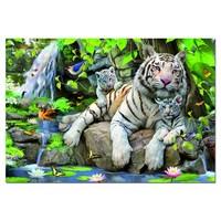 thumb-Witte Bengaalse tijgers - 1000 stukjes-1