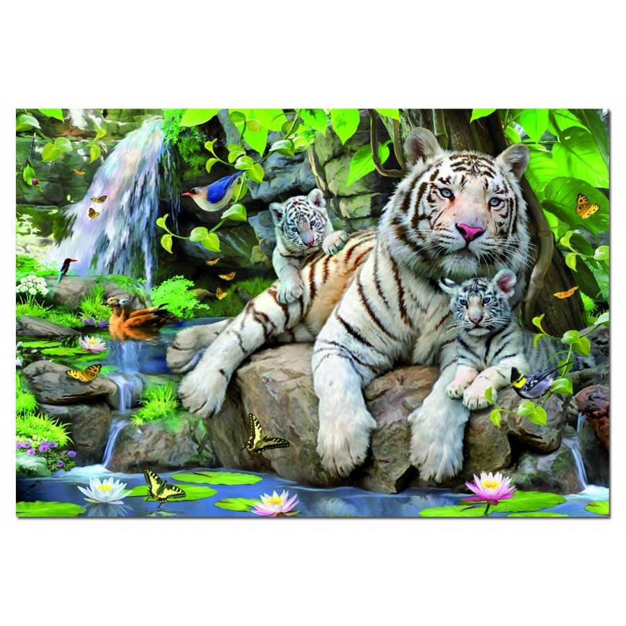 White Bengal tigers - 1000 pieces-1