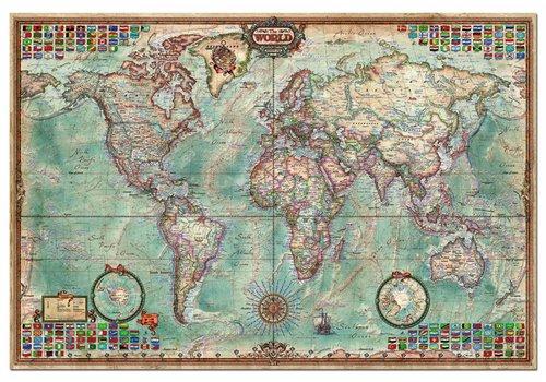 Grote wereldkaart - 4000 stukjes