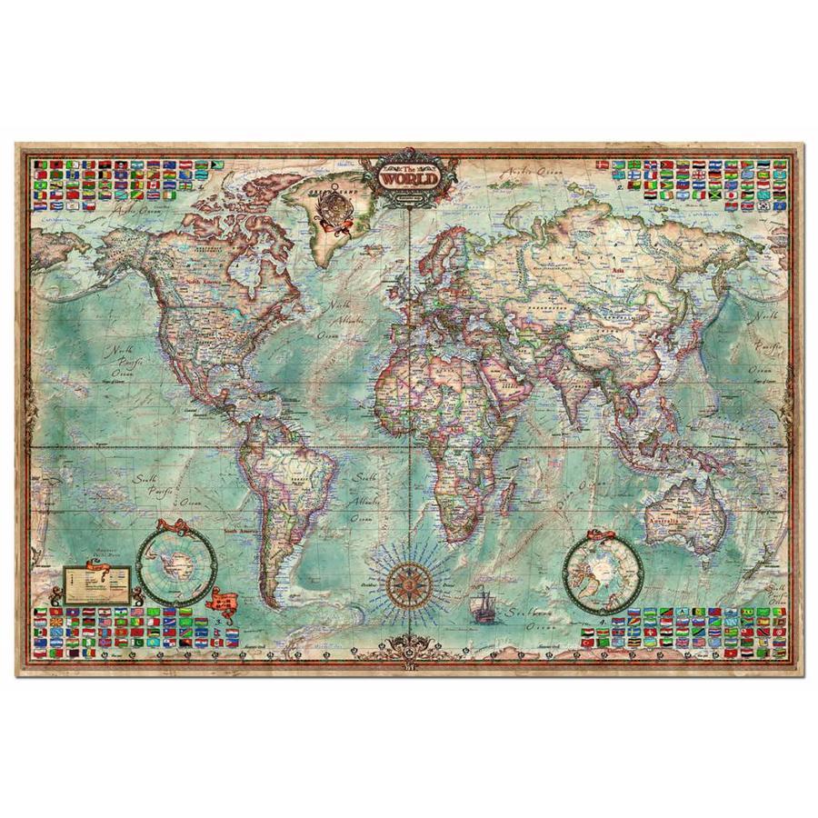 Grote wereldkaart - 4000 stukjes-1