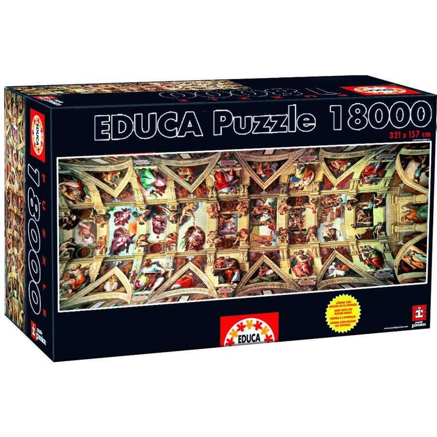 Sixtijnse Kapel -  puzzel van 18000 stukjes-2