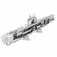 thumb-U-boat type XXI - 3D puzzle-2