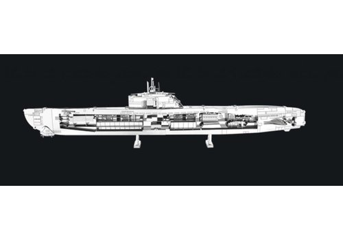 U-boat type XXI - 3D puzzle