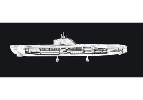 U-boat type XXI - puzzle 3D