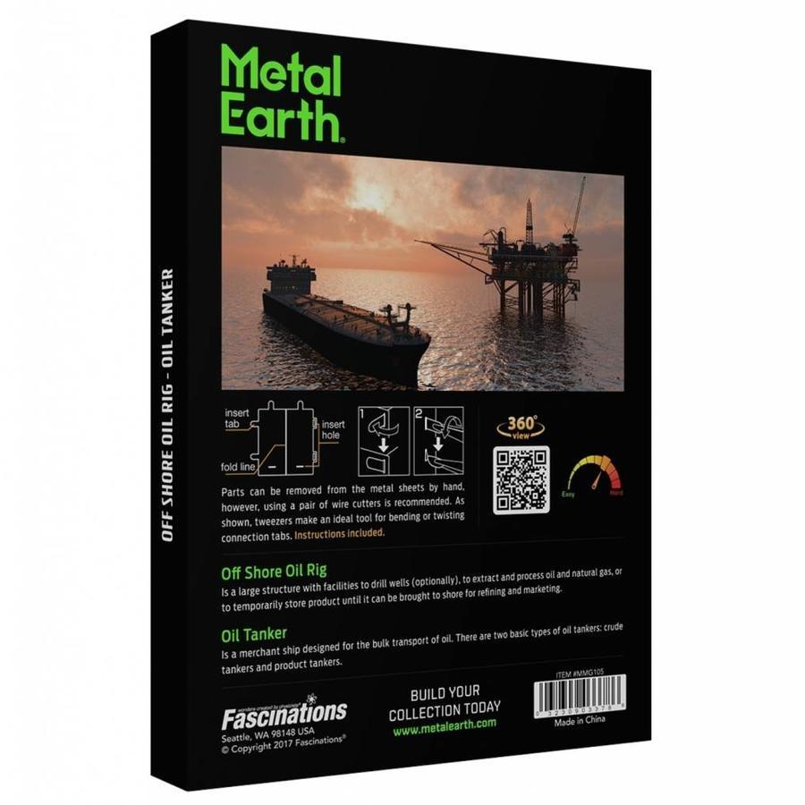 Booreiland en olietanker - Gift Box - 3D puzzel-2