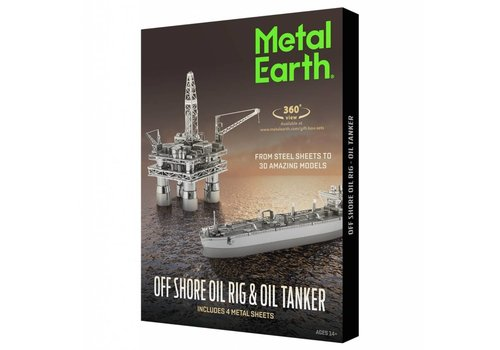 Offshore Oil Rig and Tanker - Gift Box - 3D puzzle