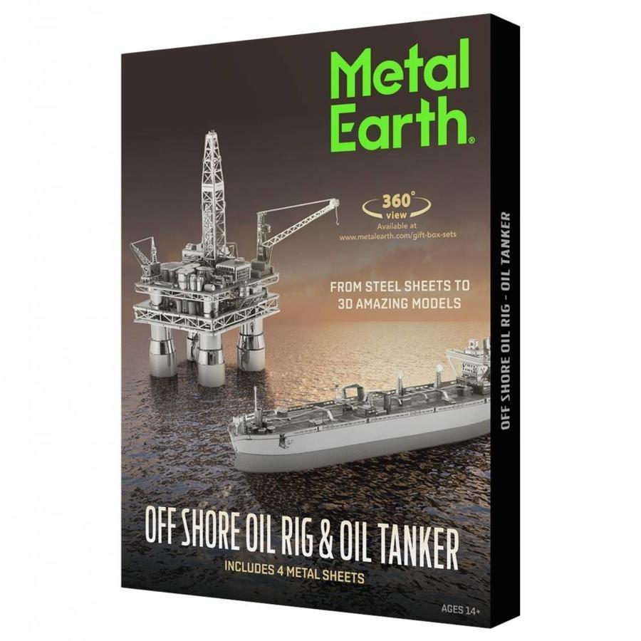 Booreiland en olietanker - Gift Box - 3D puzzel-1