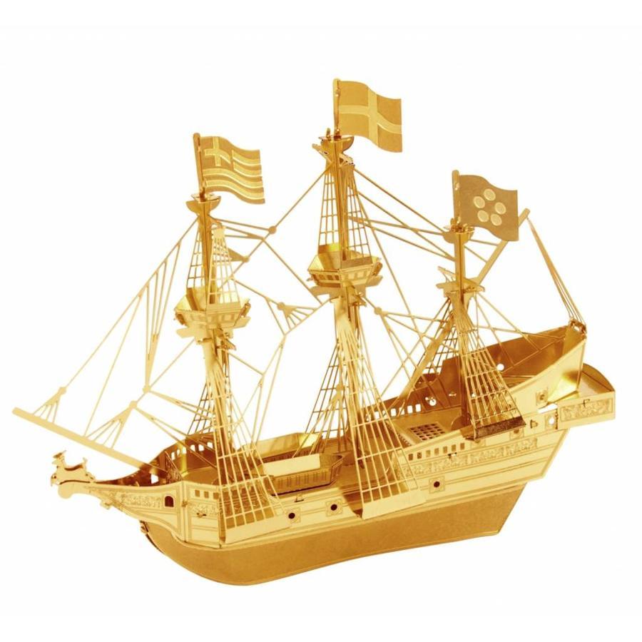 Gouden Driemaster Golden Hind - 3D puzzel-1