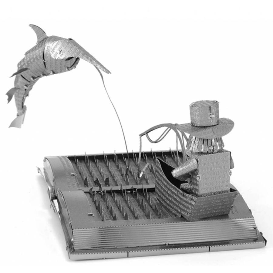 De oude man en de zee Boeksculptuur - 3D puzzel-7