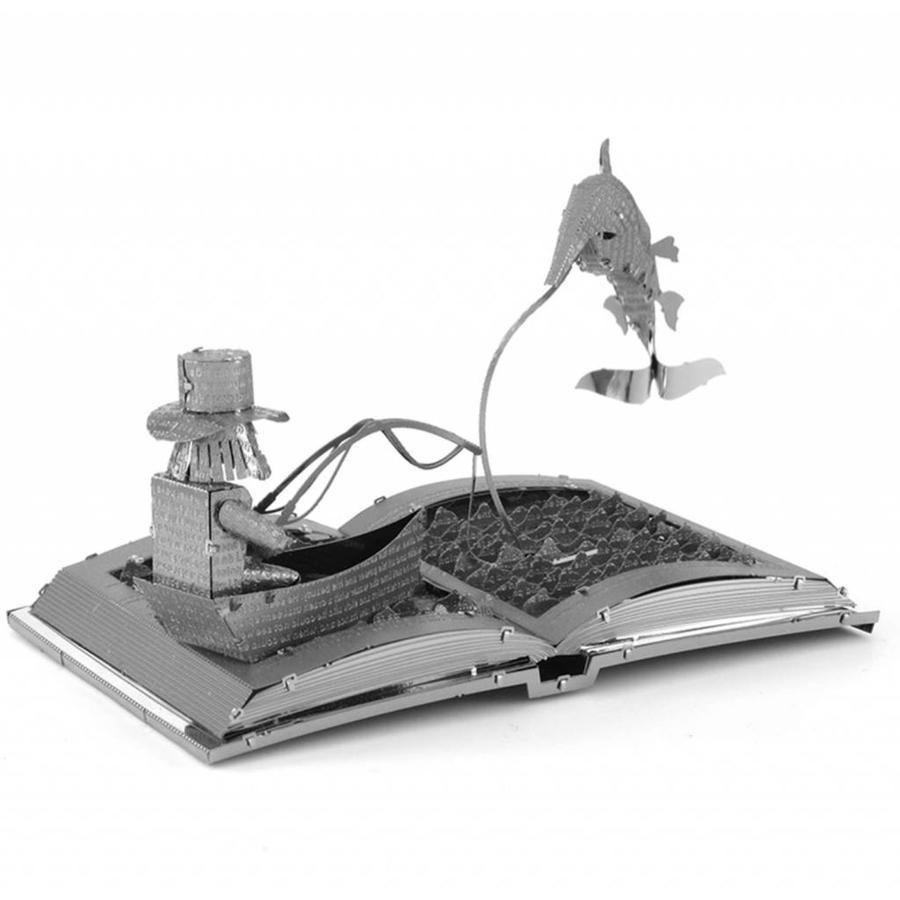 De oude man en de zee Boeksculptuur - 3D puzzel-3