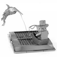 thumb-De oude man en de zee Boeksculptuur - 3D puzzel-2