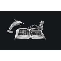 thumb-De oude man en de zee Boeksculptuur - 3D puzzel-1