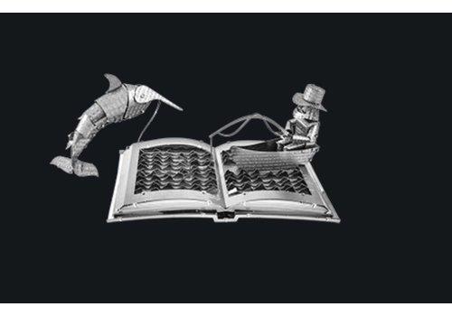 Metal Earth Le vieil homme et la mer livre sculpture - puzzle 3D