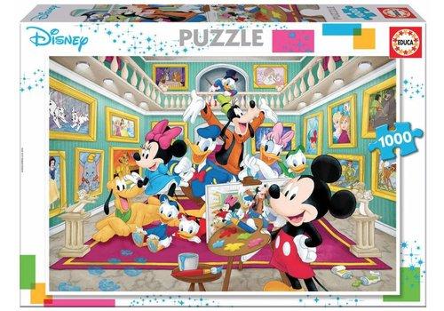 Mickey Mouse kunstgalerij - 1000 stukjes