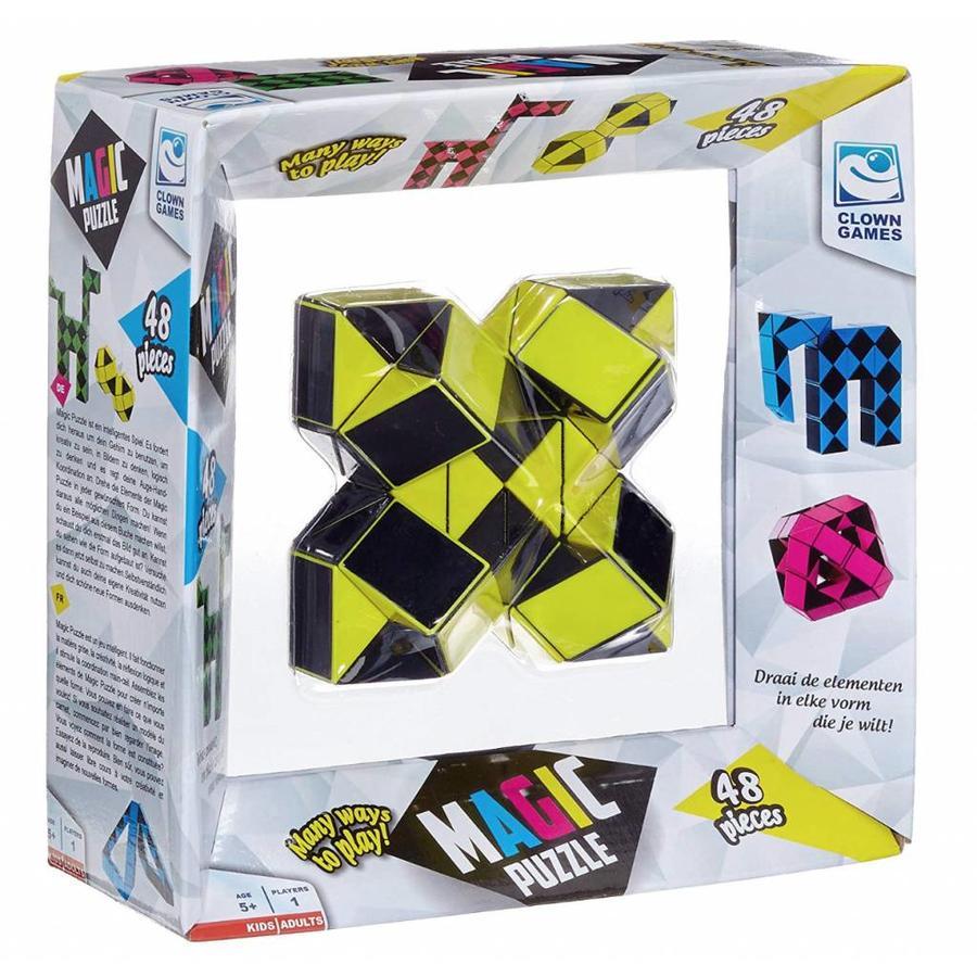 Magic Puzzle 3D Geel - 48 onderdelen-1