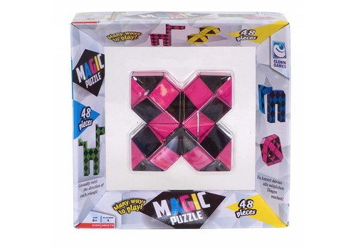 Clown Games Magic Puzzle 3D Pink - 48 parts