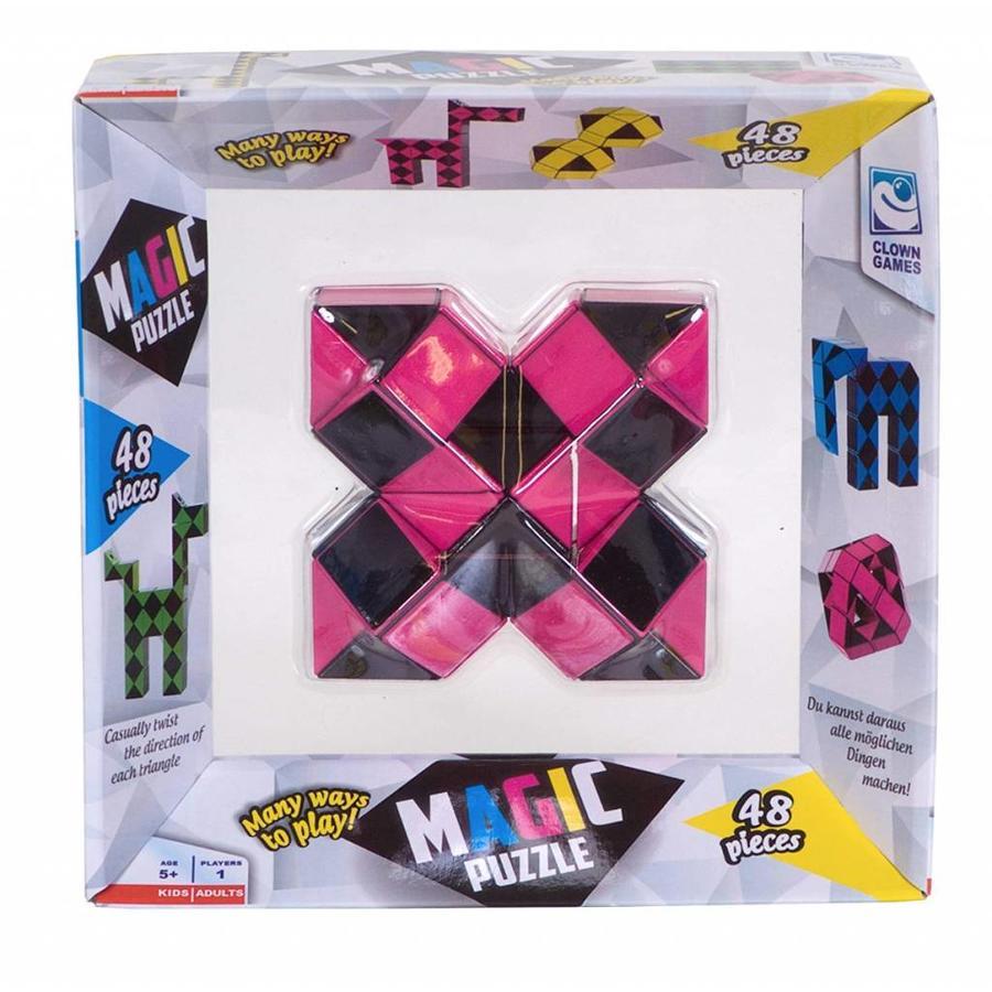 Magic Puzzle 3D Roze - 48 onderdelen-1