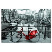 thumb-bicyclette rouge à Amsterdam, 1000 pièces-1