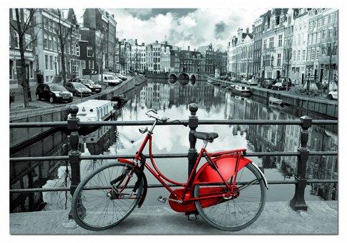 Rode fiets in Amsterdam, 1000 stukjes