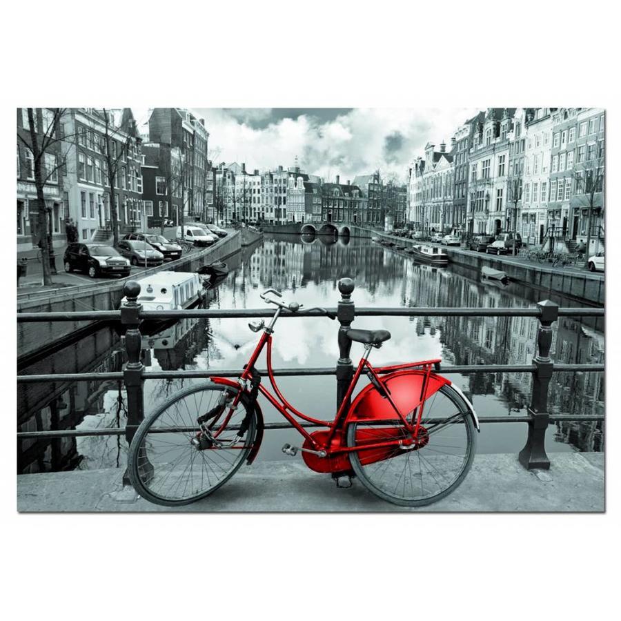 Rode fiets in Amsterdam, 1000 stukjes-1